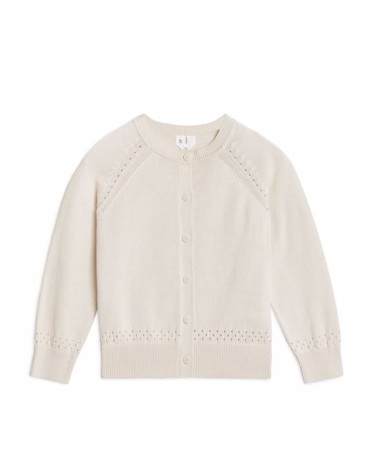 Arket Cotton Cardigan Off-White