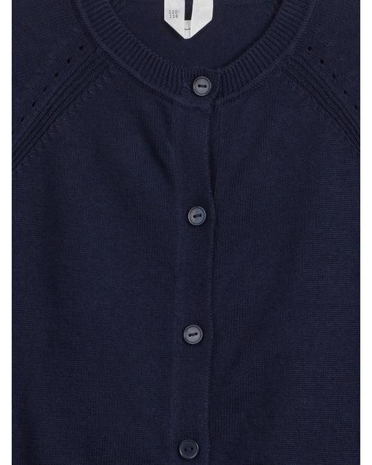 Arket Cotton Cardigan Dark Blue